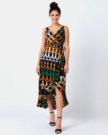AX Paris Print Midi Tie Dress Multi