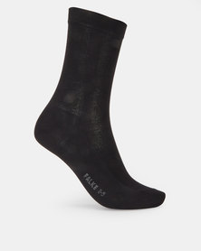 Falke Mercerized Cotton Ladies Anklet Socks Black