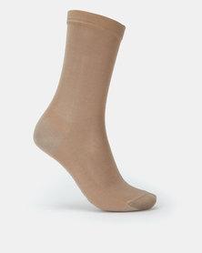 Falke Mercerized Mink Cotton Ladies Anklet Socks Neutral