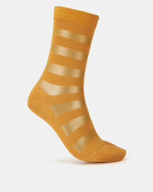 Falke Sheer Inca Stripe Ladies Anklet Socks Gold