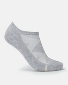 Falke Silver Cushion Ladies Sneaker Socks Ash Melange
