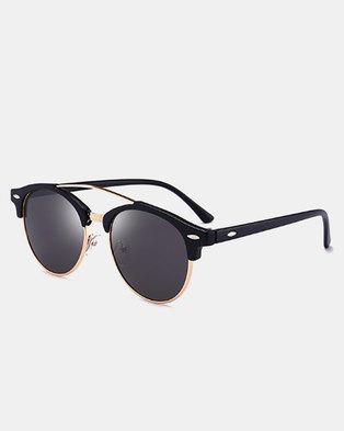 Naked Eyewear Polarised Raven Sunglasses - Black (glossy)