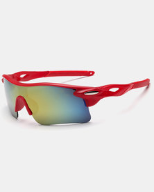 Naked Eyewear Sport Sunglasses Red