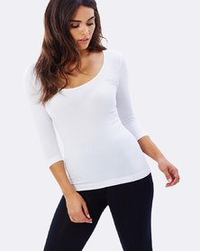 Boody Eco Wear Scoop Top White