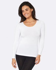 Boody Eco Wear Long Sleeve Top White