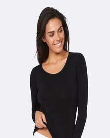 Boody Eco Wear Long Sleeve Top Black