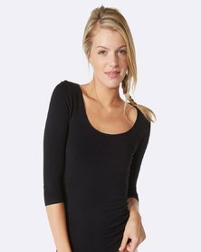 Boody Eco Wear Scoop Top Black