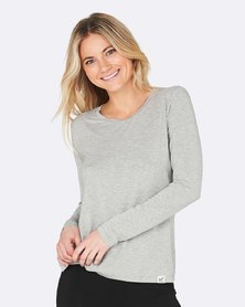 Boody Eco Wear Long Sleeve T-Shirt Light Grey
