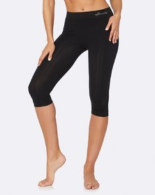 Boody Eco Wear Crop Leggings Black