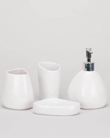 Utopia Bathroom 4 Piece Set White