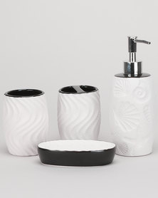 Utopia Bathroom 4 Piece Set White