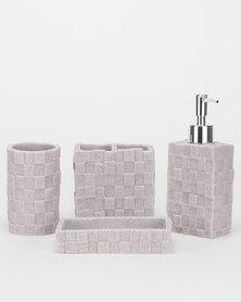 Utopia Bathroom 4 Piece Set Stone