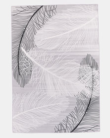 Utopia Leaf Rug Grey