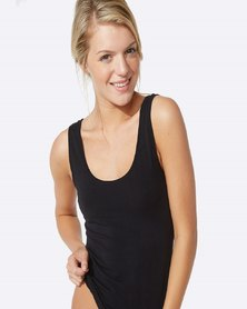 Boody Eco Wear Tank Top Black- 2 Pack