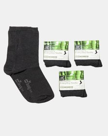 Boody Eco Wear Everyday Socks 3 Pack: Size 3-9