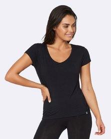 Boody Eco Wear V-Neck T-Shirt Black