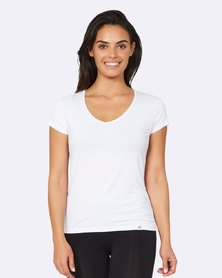 Boody Eco Wear V-Neck T-Shirt White