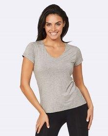 Boody Eco Wear V-Neck T-Shirt Light Grey