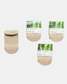 Boody Eco Wear Low Hidden Socks 3 Pack: Size 3-9