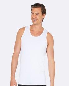 Boody Eco Wear Singlet Vest White