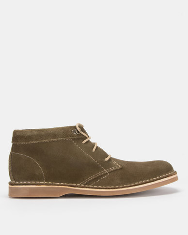 Grasshoppers Orlando Buck Suede Khaki Boots