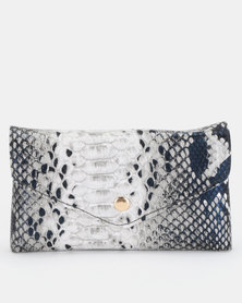 Utopia Snake Skin Belt Bag White/Black