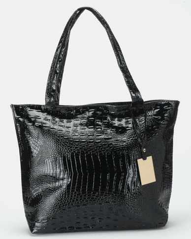 Utopia Large Handbag Black