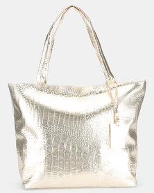 Utopia Large Handbag Gold