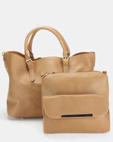 Utopia 3 Piece Bag Set Tan