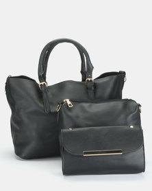 Utopia 3 Piece Bag Set Black