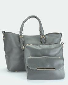 Utopia 3 Piece Bag Set Grey