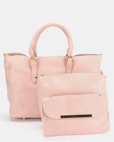 Utopia 3 Piece Bag Set Soft Pink