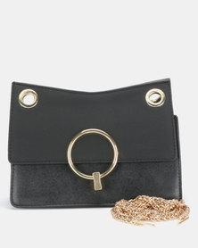 Utopia Chain Strap Clutch Bag Black