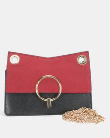 Utopia Chain Strap Clutch Bag Red/Black
