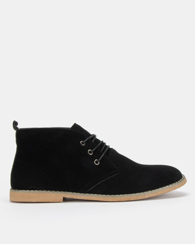 Utopia Black Casual Lace Up Boot
