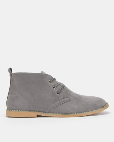 Utopia Grey Casual Lace Up Boot