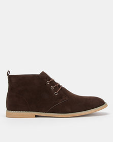 Utopia Coffee Casual Lace Up Boot