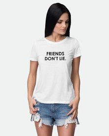 JuiceBubble Friends Don't Lie T-Shirt White