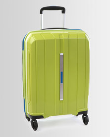 Cellini Cancun 4 Wheel Trolley Case 550mm Lime Green