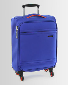 Cellini Cancun 4 Wheel Carry On 520mm Cobalt Blue