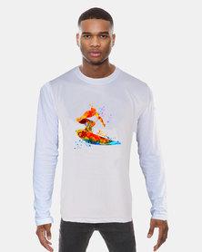 Casa di Cincanra Surfer Long Sleeve T-Shirt White
