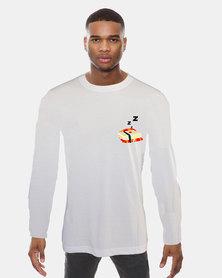 Casa di Cincanra Sleeping Sushi Sleepwear Long sleeve T-shirt Sleepwear Tee White