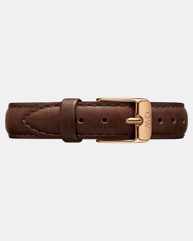 Daniel Wellington Petite 12 Bristol RG DW00200180 Leather Watch Strap Brown