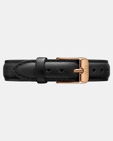 Daniel Wellington Petite 12 Sheffield RG DW00200183 Leather Watch Strap Black