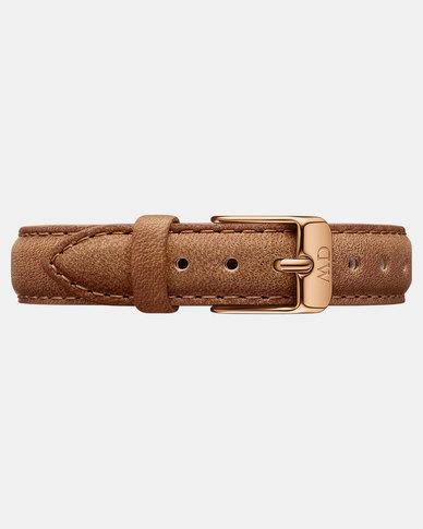 Daniel Wellington Petite 12 Durham S DW00200187 Leather Watch Brown Strap