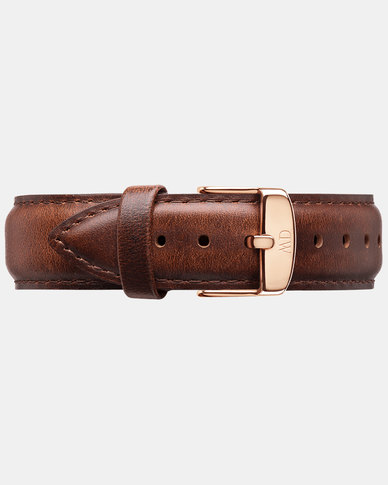 Daniel Wellington Dapper 19 St Mawes RG 1200DW DW00200083 Leather Watch Strap Brown