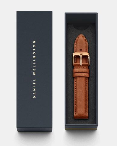Daniel Wellington Classic 18 Durham RG DW00200127 Leather Watch Strap Brown