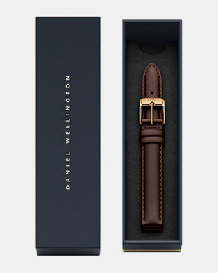 Daniel Wellington Petite 14 Bristol RG DW00200141 Leather Watch Strap Brown