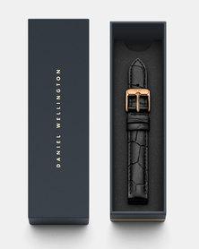 Daniel Wellington Petite 14 Reading RG DW00200143 Leather Watch Strap Black