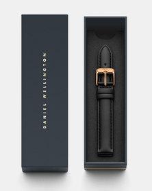 Daniel Wellington Petite 14 Sheffield RG DW00200144 Leather Watch Strap Black